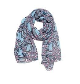 Biba Biba sjaal 72482 blauw roze