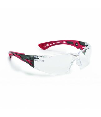BOLLÉ Safety Bollé Safety Eyewear Model Rush Platinum Red Clear Lens