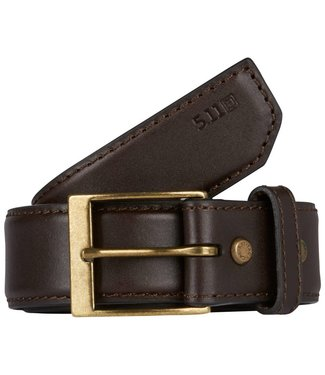 5.11 Leather Casual Belt Brown