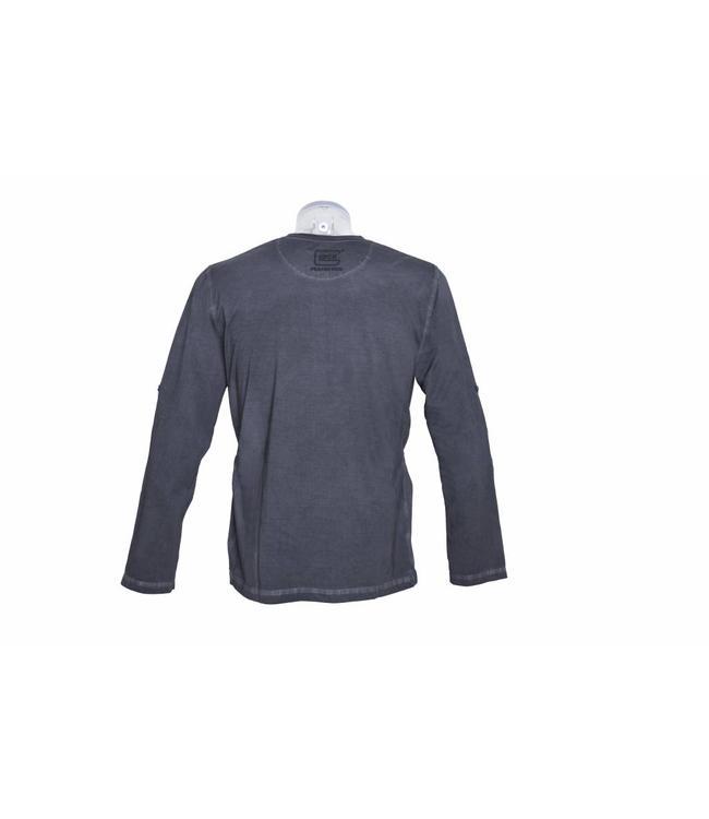 Glock T-shirt Perfection Long Sleeve Dye Grey