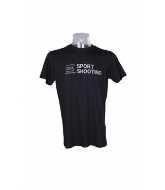 Glock T-Shirt Sport Silver Flag Line
