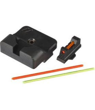 ZEV Sight set, 215 Fiber optic front, combat v3, Black rear