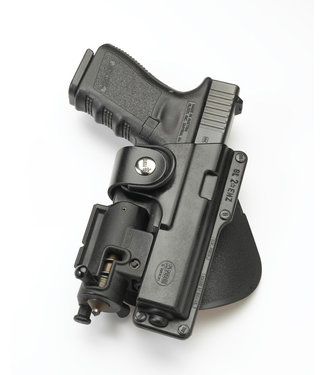 FOBUS EM Tactical Fobus Paddle Tactical Holster Glock 17, S&W MP9 + Licht Links