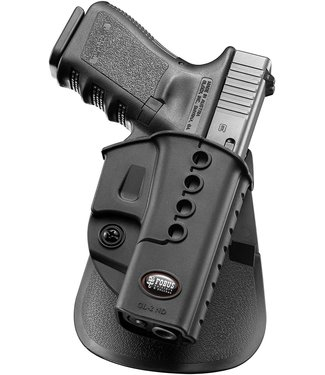 FOBUS Model GL-2 Paddle Holster Thumb Break for Glock 17 and 19 Left