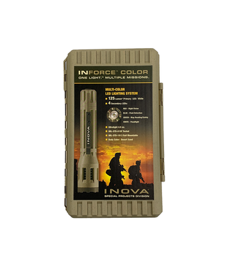 Inova Inforce Multi-Function Led Flashlight 6 VDC 150 Lumen Desert Sand