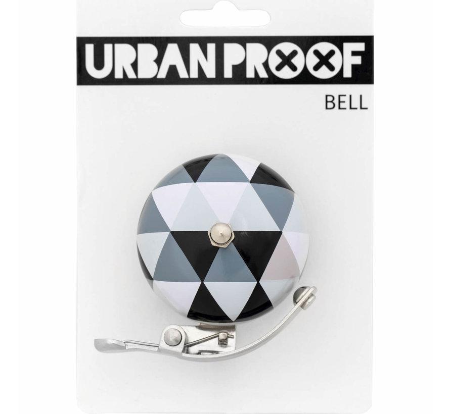UP Retro bel 60mm Driehoek zwart/wit