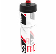 Polisport bidon S800 claer/black/red