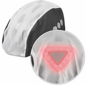Abus regenhoes helm transparant/zwart toplight