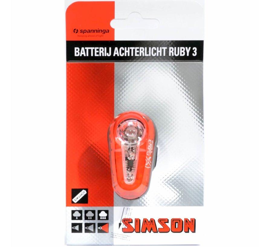 a licht Ruby 3 batt