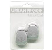 Urban Proof UP Siliconen LED Fietslampjes set Light grey