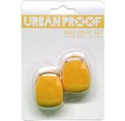 Urban Proof UP Siliconen LED Fietslampjes set Ochre yellow