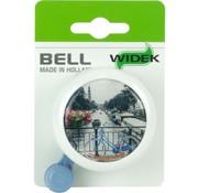 Widek bel met fiets op brug bij gracht op kaart