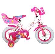 Disney Princess meisjesfiets 12 inch roze Twee handremmen