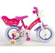 Disney Minnie Bow Tique meisjesfiets 12 inch roze wit