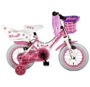 Volare Rose meisjesfiets 12 inch roze 2 handremmen