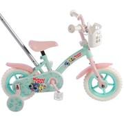 Woezel en Pip meisjesfiets 10 inch mint blauw/roze