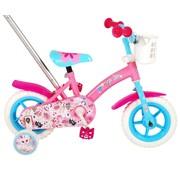 OJO meisjesfiets 10 inch roze/blauw