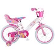 Disney Princess meisjesfiets 16 inch roze 2 handremmen