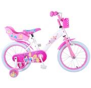 Disney Princess meisjesfiets 16 inch Wit Roze