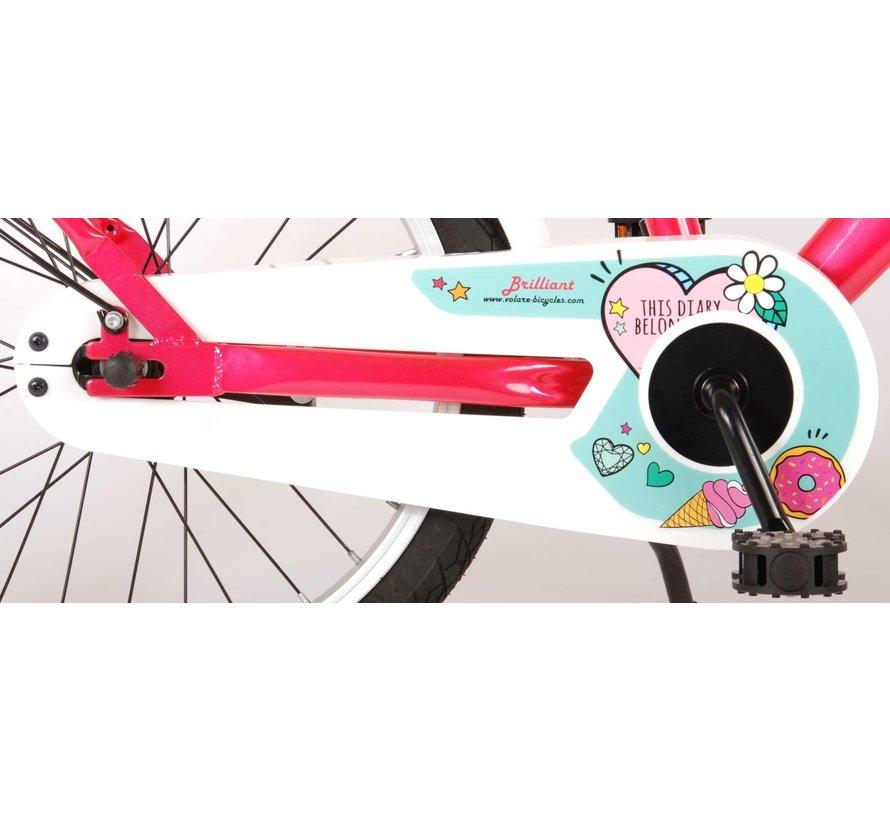 Brilliant meisjesfiets 18 inch roze
