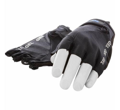 Mirage handschoen vingerloos Lycra gel zwart S