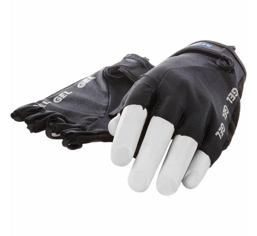 handschoen vingerloos Lycra gel zwart S
