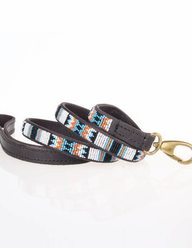 HANDMADE IN KENYA PUEBLO BLACK LEASH