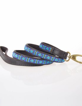HANDMADE IN KENYA RAFIKI BLUE LEASH