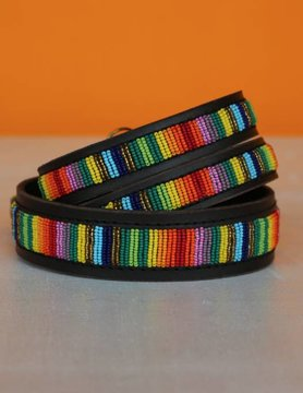 HANDMADE IN KENYA TOGO DOG COLLAR