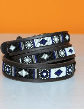 HANDMADE IN KENYA BENIN DOG COLLAR