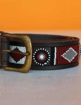 HANDMADE IN KENYA ZAMBIA BELT