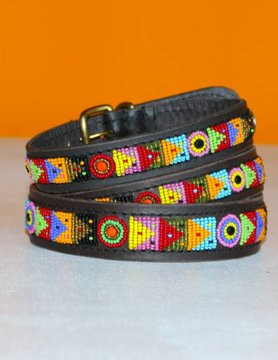 HANDMADE IN KENYA MADAGASKAR DOG COLLAR