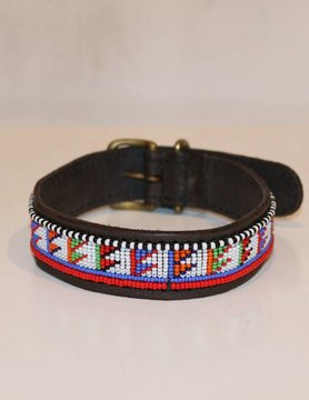 HANDMADE IN KENYA GUINEE DOG COLLAR