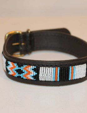 HANDMADE IN KENYA BOTSWANA DOG COLLAR