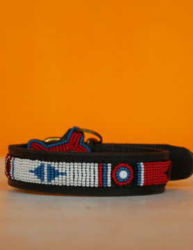 HANDMADE IN KENYA AKAMBA DOG COLLAR