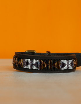 HANDMADE IN KENYA SWAHILI DOG COLLAR