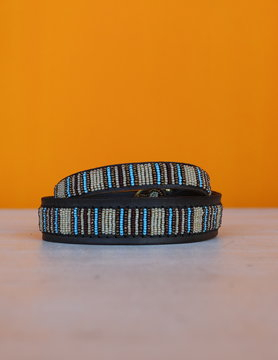 HANDMADE IN KENYA BLUE NILE DOG COLLAR