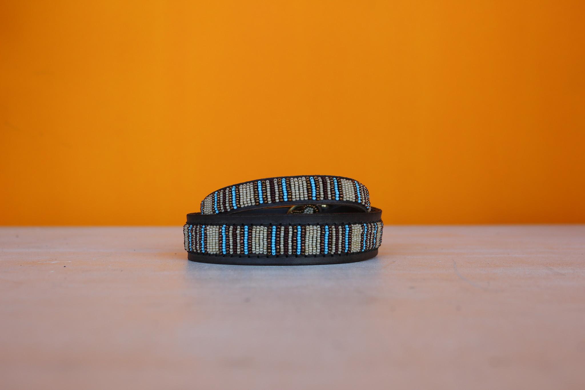 HANDMADE IN KENYA BLUE NILE DOG COLLAR