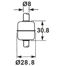 2931C SUS 316L Float for 8mm Tube