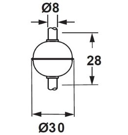 3028R SUS 316L Float for 8mm Tube