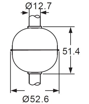 5352R SUS 316L Float for 12,7mm Tube