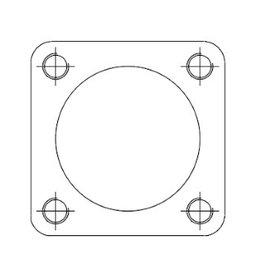 Square flange, Mild Steel