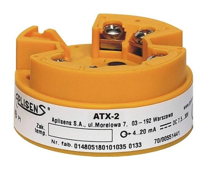 Head-mounted temperature transmitter type ATX-2