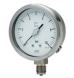 Pressure Gauge P102 all SS with external zero adjustment