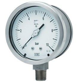 Pressure Gauge P201 solid front, >100 mm diameter