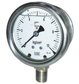 Pressure Gauge P203 all SS solid front pressure gauge