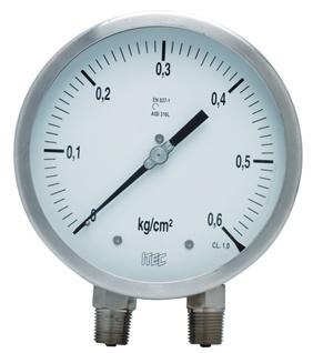 Pressure Gauge P303 differential, bellow type