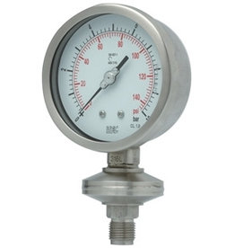 Pressure Gauge P703 integral diaphragm seal gauge, threaded