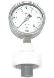 Pressure Gauge P705 plastic diaphragm seal gauge, threaded