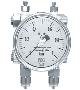 Pressure Gauge P301 differential, double diaphragm type
